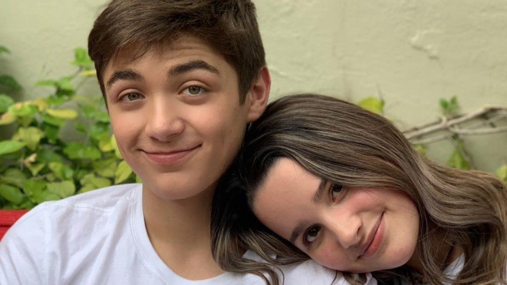 Annie Leblanc and Asher Angel