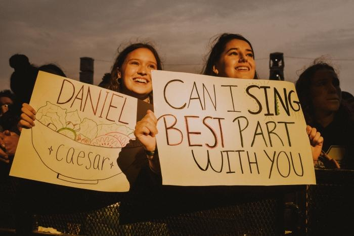Daniel Caesar's fans at FEQ 2019