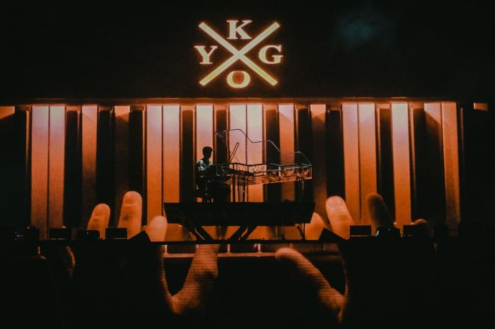 Kygo at the piano when he arrived on stage.