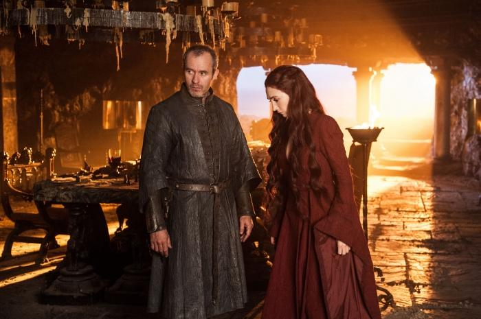 Stannis and Mélisandre in Game of Thrones