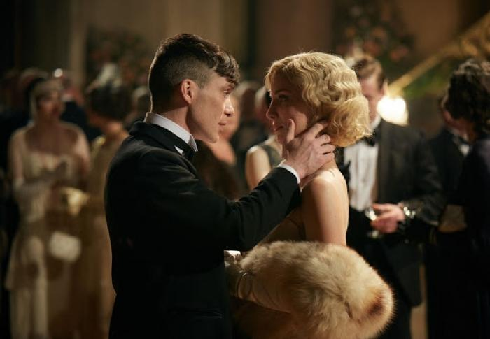 Grace and Tommy Shelby in season 3 of Peaky Blinders