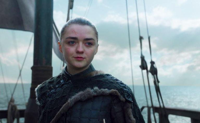 Arya at the end of Game of Thrones