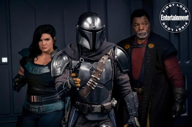 Cara Dune, The Mandalorian and Greef Karga.
