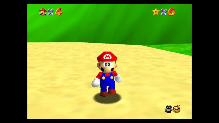 A square format and outdated graphics for Super Mario 64