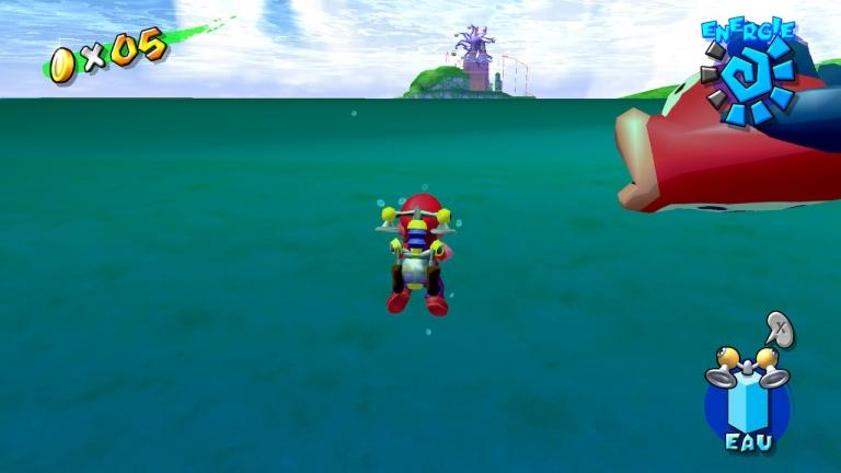 Effects in the water shows the somewhat dated look of the game