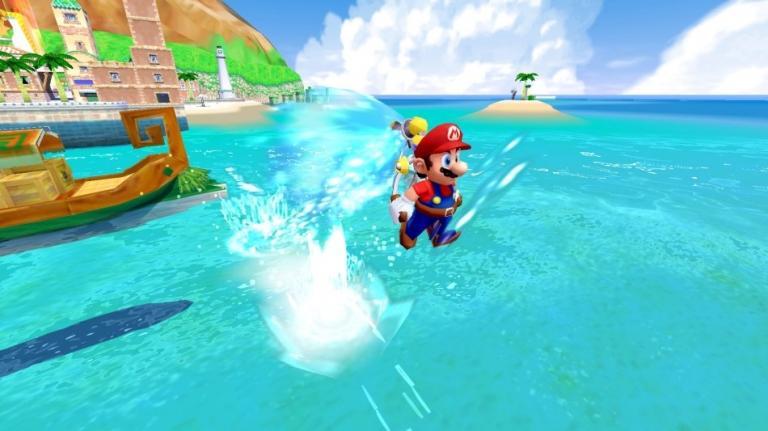 Lags are sometimes present in Super Mario Sunshine