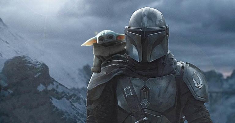 Din Djarin and Baby Yoda in The Mandalorian season 2