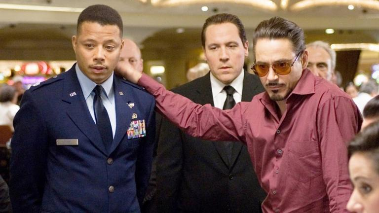 Terrence Howard and Robert Downey Jr. in Iron Man