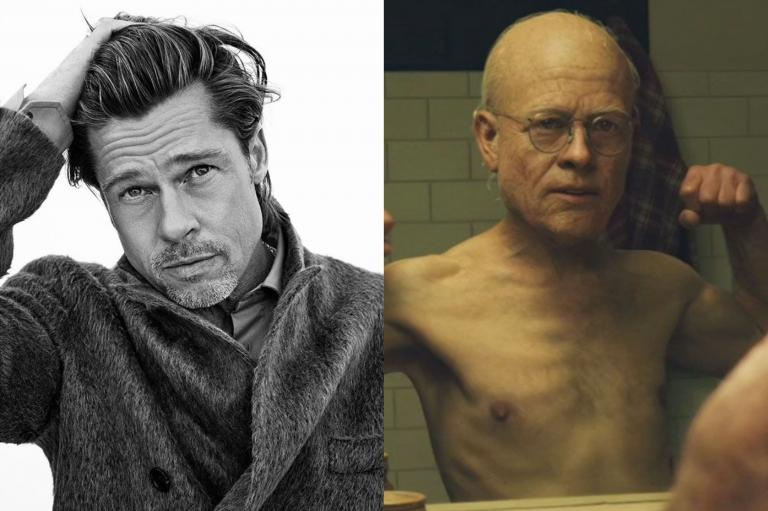 Brad Pitt transformed into an old man in The Curious Benjamin Button
