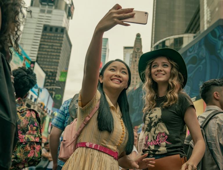 Lara Jean and Christine in New York