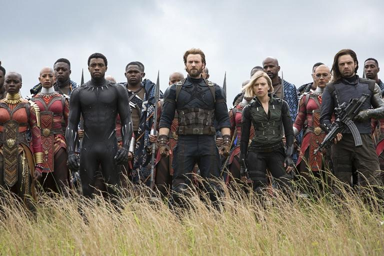The Battle of Wakanda during Avengers: Infinity War.