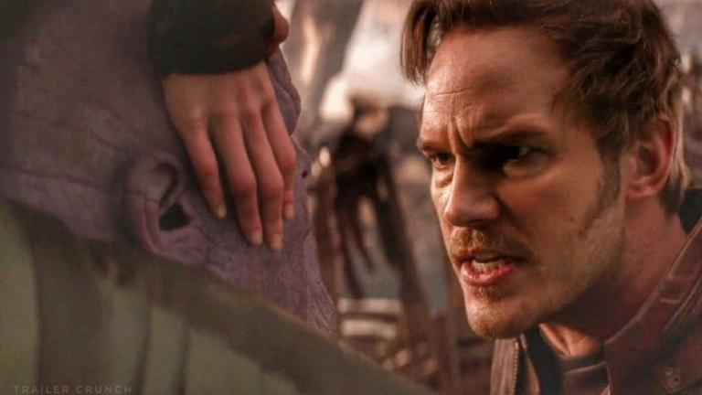 Peter Quill facing Thanos in Avengers: Infinity War.