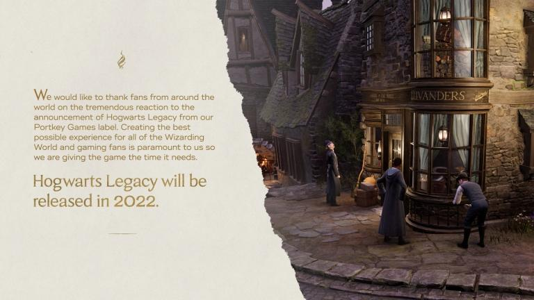 Avalanche Software Announces Postponement of Hogwarts Legacy