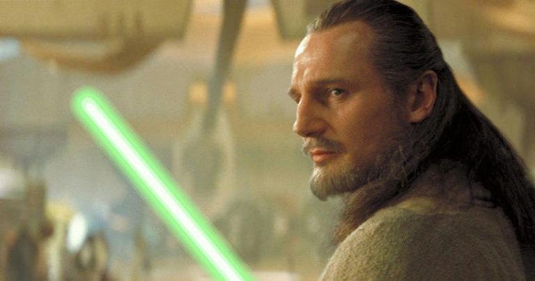 Liam Neeson aka Qui-Gon Jinn in The Phantom Menace