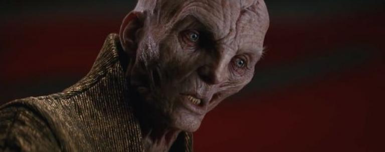 Snoke in the latest Star Wars trilogy.
