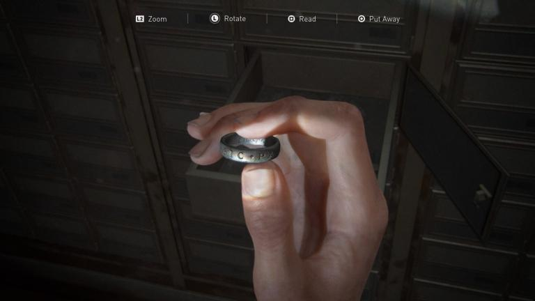 Nathan Drake's ring, stored in a safe