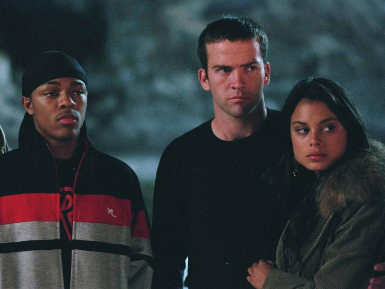 Twinkie (Bow Wow) and Sean Boswell (Lucas Black) in Tokyo Drift.