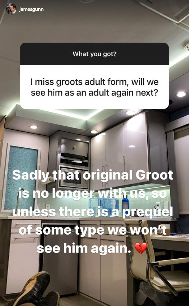James Gunn Instagram Story.