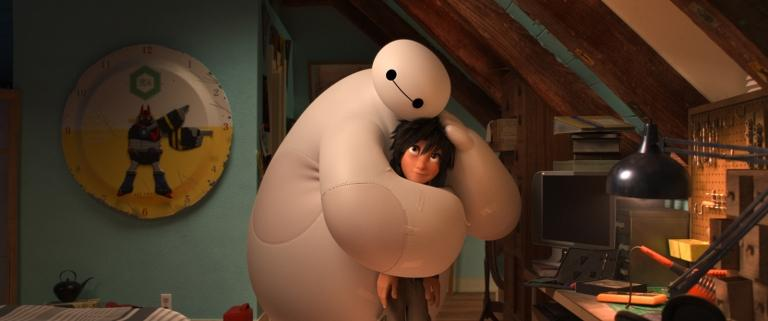 Baymax and Hiro in The New Heroes.