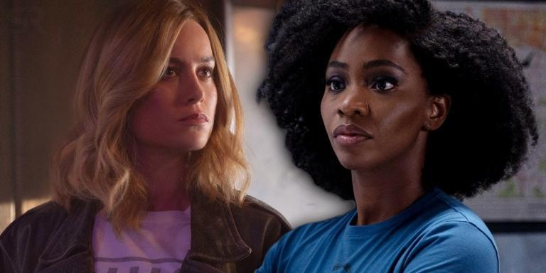 Captain Marvel and Monica Rambeau.