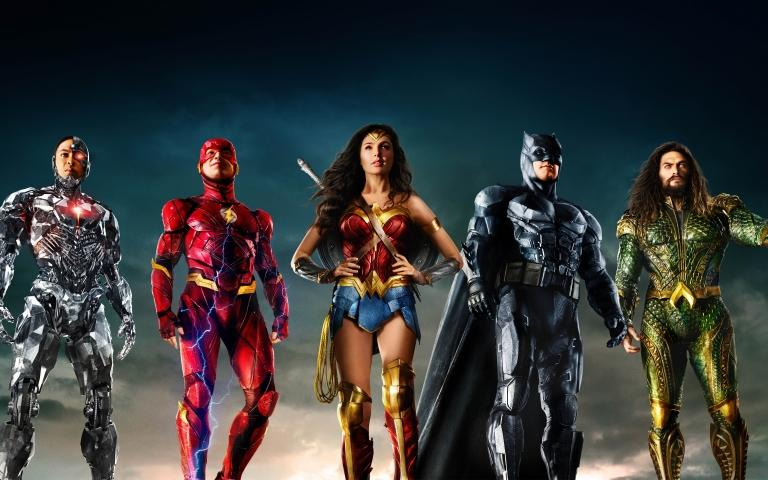 The Justice League on one of the official promotional images