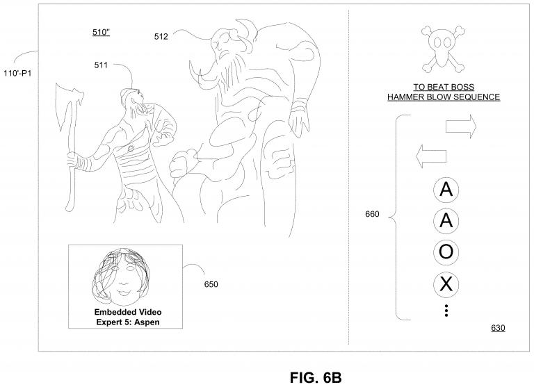 Illustration from the patent, revealing the video help