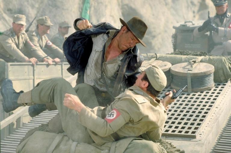 Indiana Jones facing the Nazis.