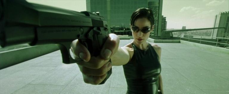 Trinity in The Matrix.