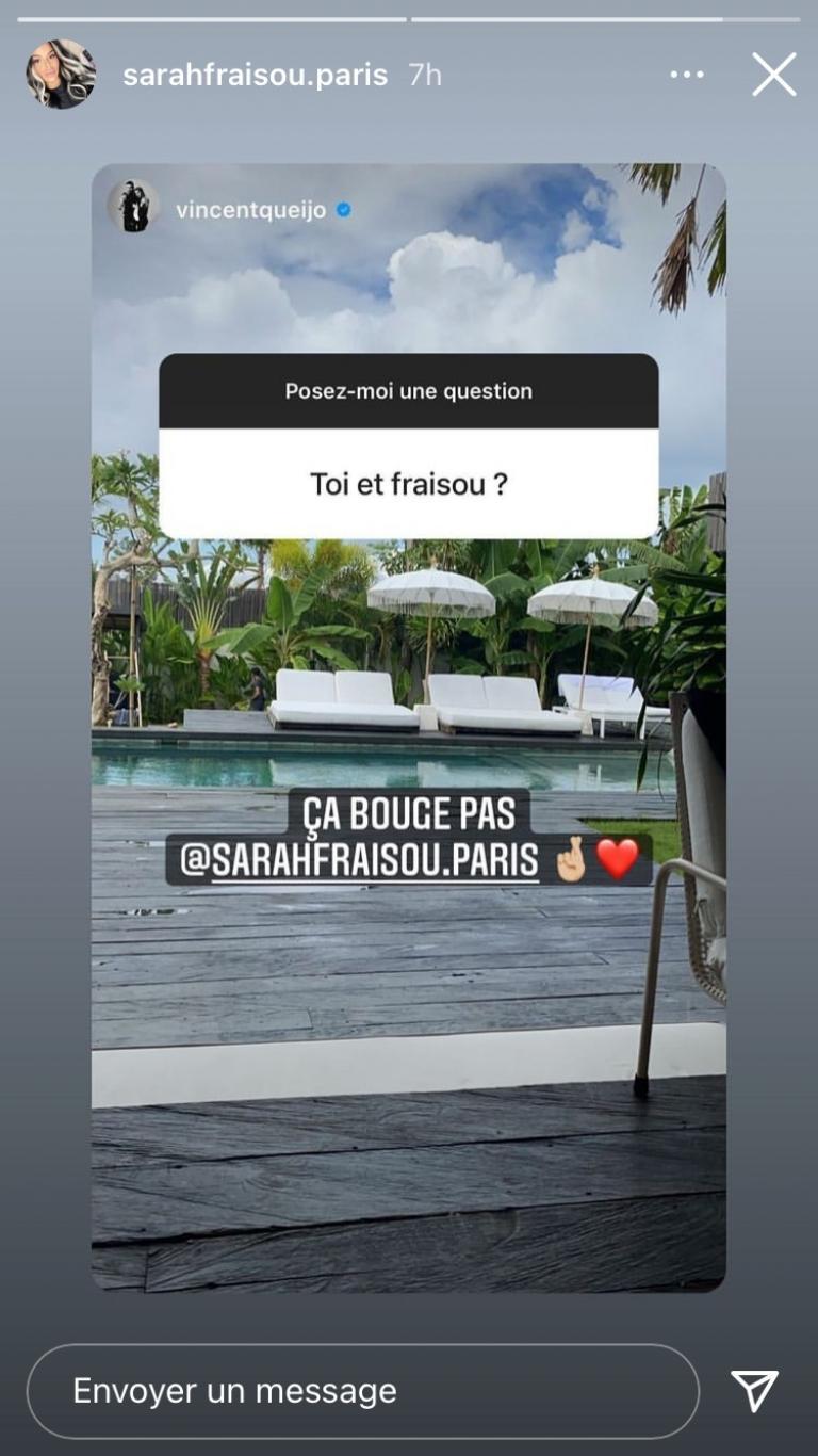 Sarah Fraisou and Vincent Queijo are still so close