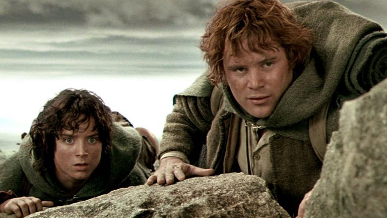 Frodo and Sam in The Lord of the Rings.