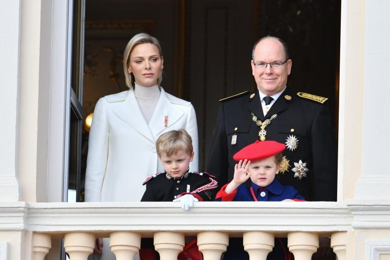 Charlene of Monaco, Prince Albert II and their children Jacques and Gabriella