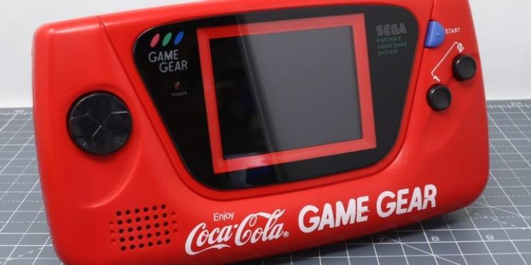 A console in the colors of the famous brand