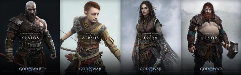 The main cast of God of War Ragnarök