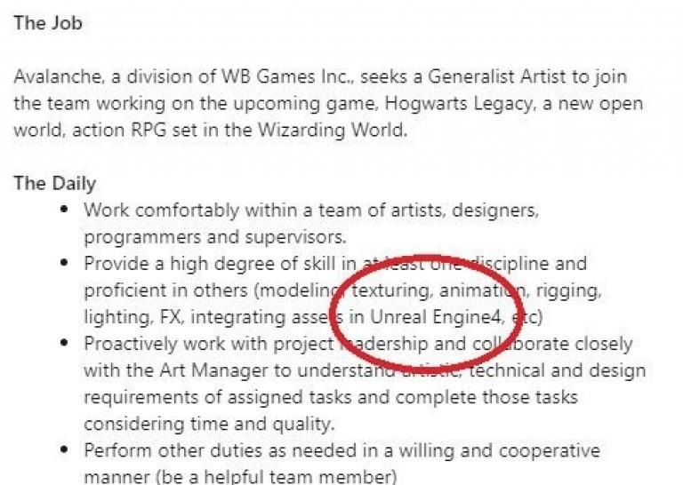 Avalanche is looking for someone with experience on Unreal Engine 4