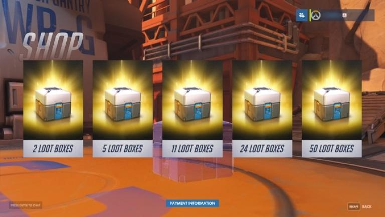 Overwatch loot boxes