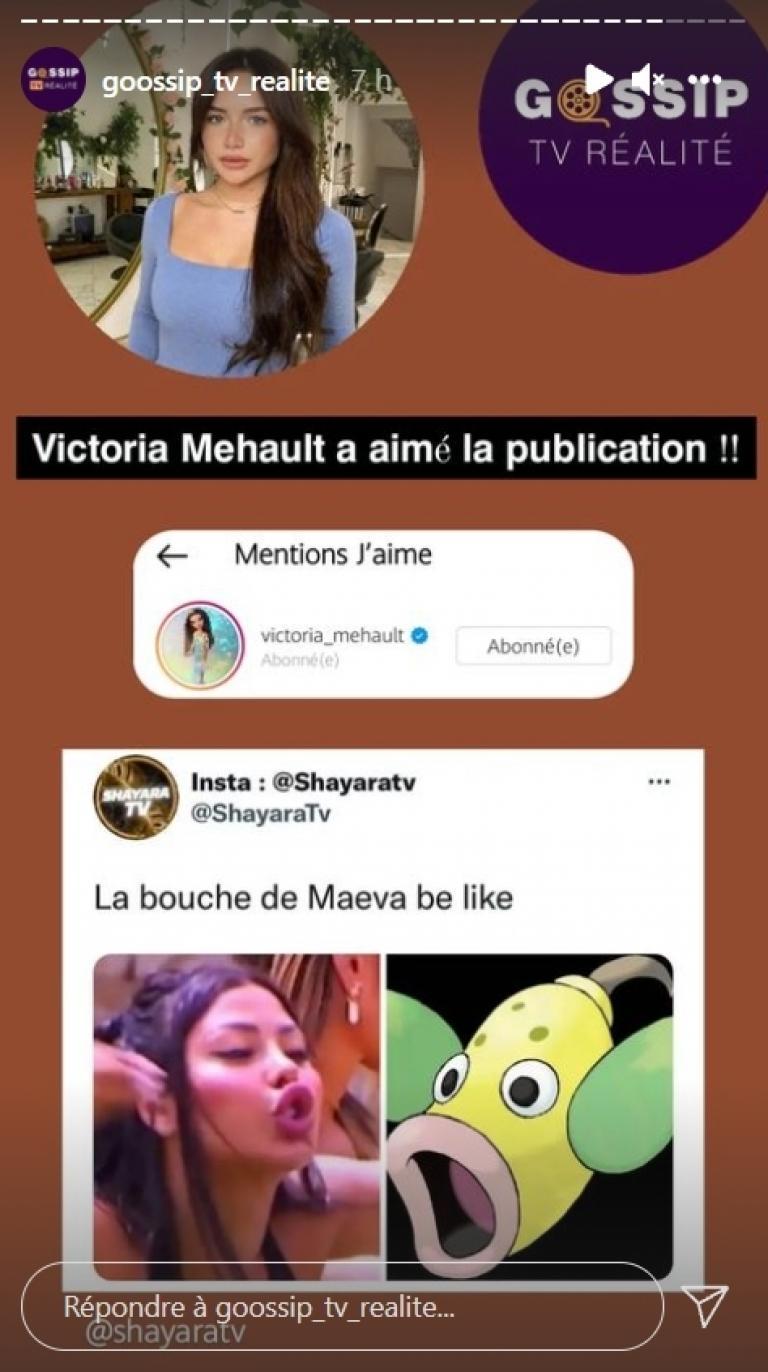 Victoria Mehault tackles Maeva Ghennam on Instagram